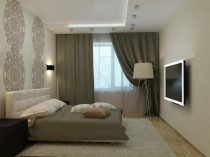 Бело-серая гамма в интерьере спальни