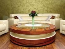 Декорирование комнаты отдыха штукатуркой зеленых оттенков