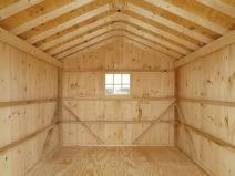 деревянный гараж изнутри