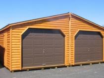 деревянный гараж на две машины
