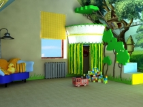 Игровая комната для ребенка на мансарде