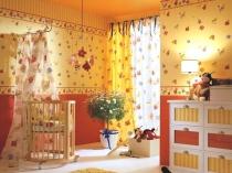 детские обои в комнату новорожденного