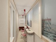 Современное оформление балкона в светлых тонах