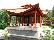 Беседка-пагода в восточном стиле