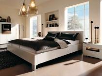 Эргономичная современная мебель в дизайне спальни