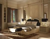 Лепнина на стенах в оформлении интерьера классической спальни