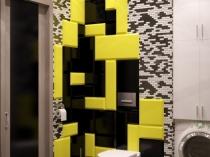 Стильный дизайн в черно-бело-желтых тонах
