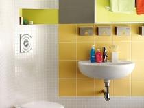 Яркий оригинальный дизайн туалетной комнаты