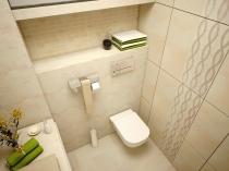 Стильный дизайн туалета с инсталяцией