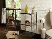 Корзины и этажерки как элемент интерьера