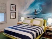 Фотообои морской тематики в спальне