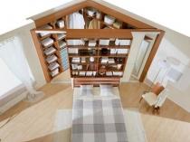 Угловая двухсторонняя гардеробная в спальне