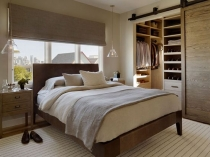 Установка перегородки из гипсокартона для устройства гардеробной в спальне