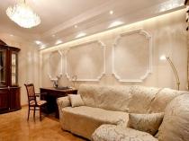Декорирование гостиной лепниной и гипсовой штукатуркой