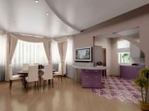 Отделка комнаты с гипсокартонной перегородкой штукатуркой