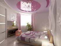 Идея оформления подвесного потолка в спальне