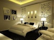 Идея оформления спальни в желто-черных тонах