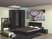 Картина из трех фрагментов для идеи обустройства интерьера спальни