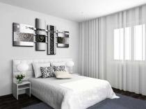 Идея для создания оригинального украшения стены в спальне