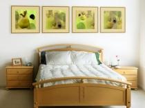 Идея для оформления интерьера спальни в стиле эко