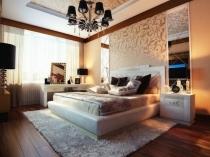 Идея использования зеркал в оформлении стен спальни