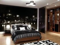 Черно-белая фотопечать для идеи дизайна спальни
