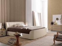 Интерьер спальни с отделкой стен обоями компаньонами
