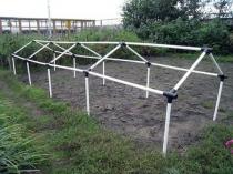 Использование труб пвх для изготовления дачной теплицы