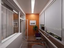 Вариант оформление кабинета на просторном балконе
