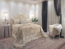 Небольшая светлая спальня в классическом стиле
