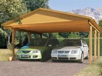Конструкция деревянного навеса с двускатной крышей