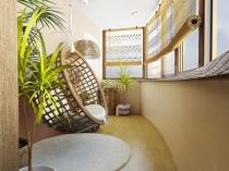 Дизайн балкона ломаной формы