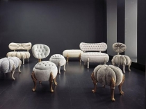 Разнообразие пуфов для меблировки спальни