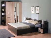 Изготовленная из МДФ кровать для спальни