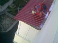 Крыша балкона последнего этажа