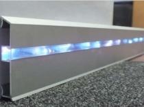 Металлический плинтус с подсветкой