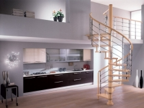 Фото изящной лестницы на мансардный этаж