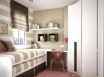 Устройство рабочего уголка в маленькой спальне