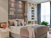 Маленькая спальня со встроенными вместительными шкафами