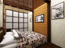 Дизайн маленькой спальни в японском стиле