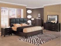 Мебель венге строгих форм в дизайне спальни