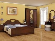 Темно-коричневая мебель из мдф для спальни
