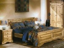 Мебель в деревенском стиле из сосны для спальни