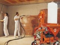 Профессиональное оборудование для механизированной штукатурки стен