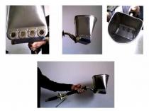 Устройство пневмолопаты для штукатурки стен механизированным способом