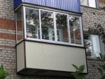 Отделка балкона порфнастилом