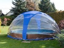 Складной навес из полиэтилена для бассейна круглой формы