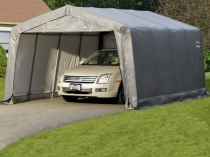 Складной гараж с навесом из тентовой сткани