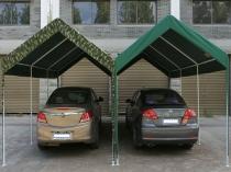 Металлические гаражные навесы с тентовой кровлей