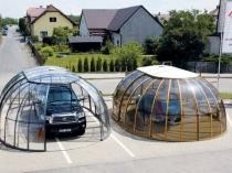 Сферические навесы из поликарбоната для машин